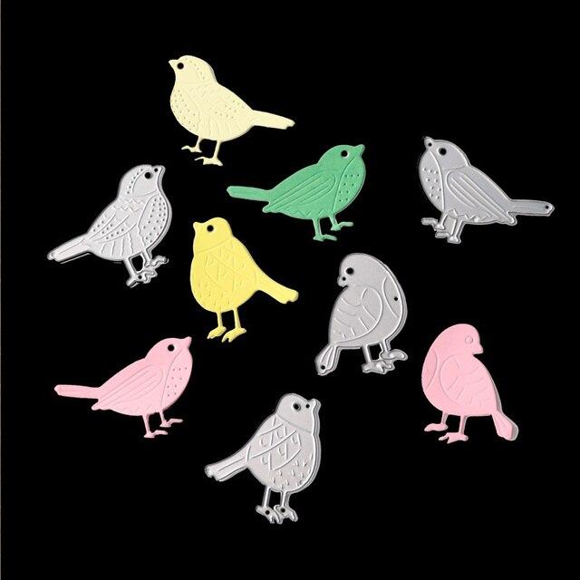 Düğün Scrapbooking kabartma DIY bıçak kalıp sevimli kuş Metal kesme ölür dekor araçları DIY Craft yapımı kağıt kartı
