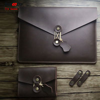 For 2016 New Macbook Pro 13 15 Inch Case Luxury Genuine Leather Slim Sleeve For Macbook