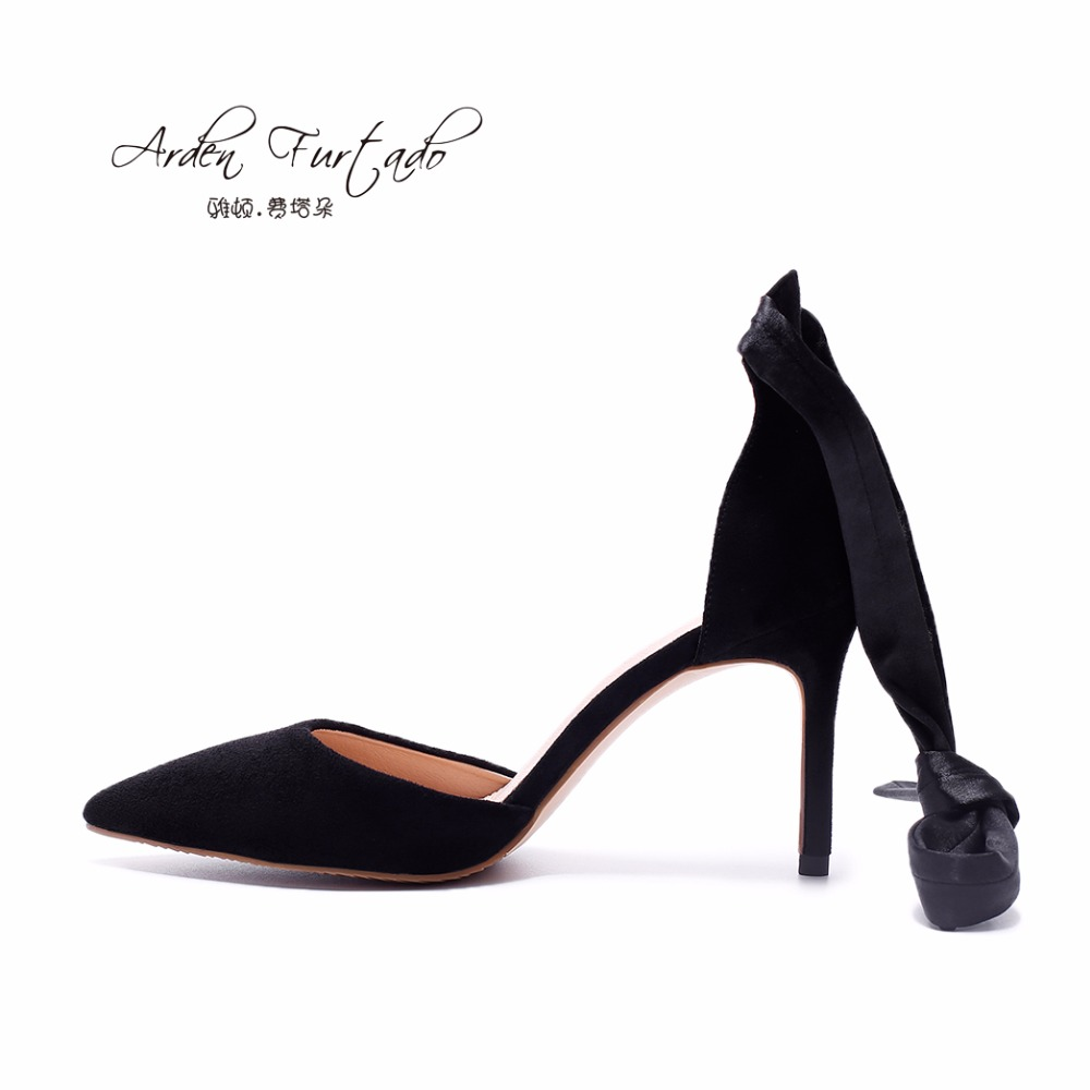 Black sandals size 11 - 2017 Summer Shoes For Women Sexy Mules High Heels Ankle Strap Cover Heel Suede Pumps Stilettos