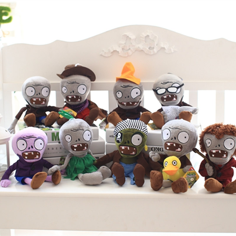 9pcs/lot 30cm Hot Plants vs Zombies Plush Plants Toys Game Figure Zombies Kids Girls Gif ...