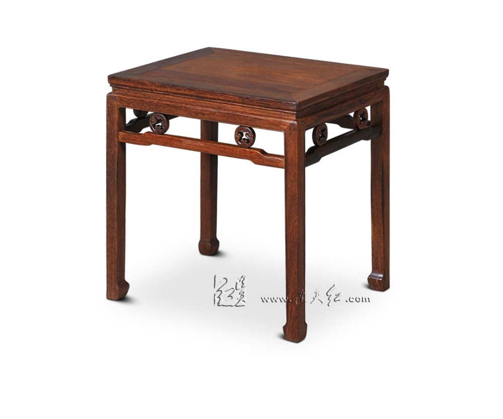 Minimalist Moder Tea Coffee Table Chinese Royal Rosewood Furniture Small low Wall Side Console Desk Solid Wood Padauk Lamp Stand