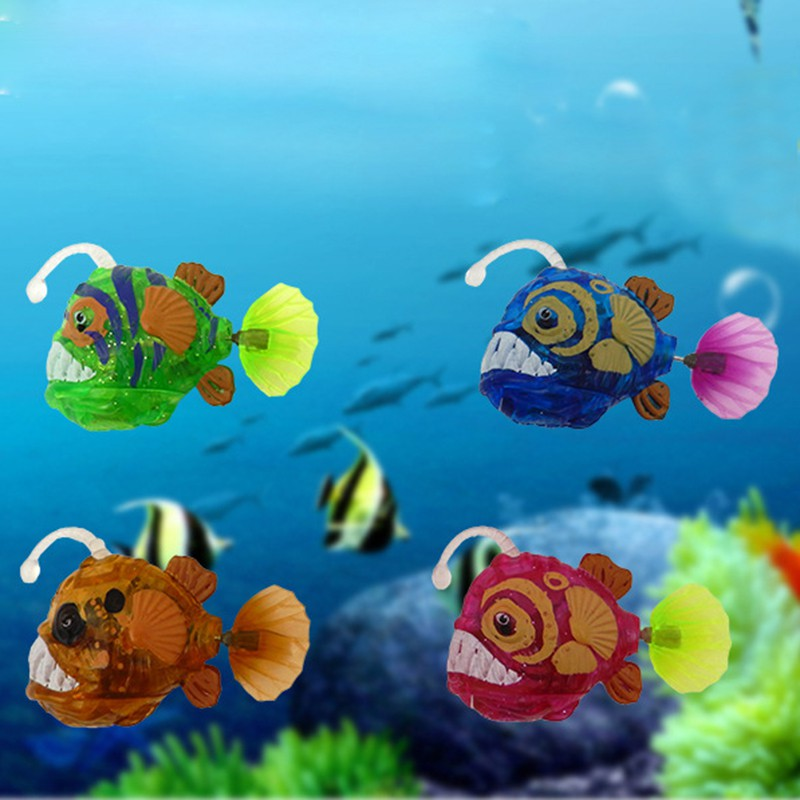 Home Electronic Fish Activated Battery Powered Pet Toy for Decoration Tank Fishing Lantern Aquarium Decorations
