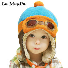 10 to 48 Months Baby Winter Hat 4 Colors Toddlers Cool Boy Girl Infant Pilot Warm Kids Cap Beanie hat
