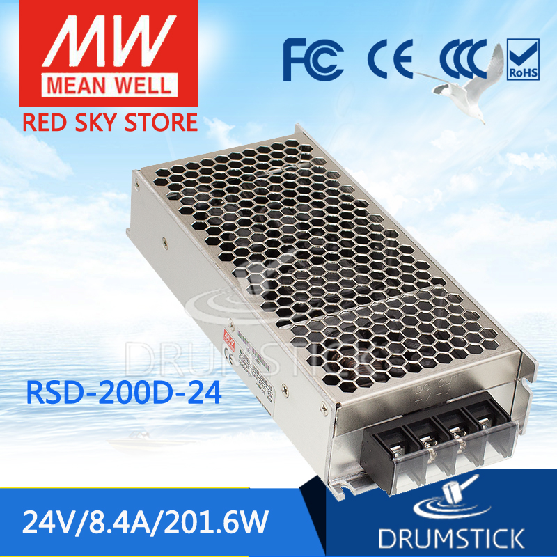 Selling Hot MEAN WELL RSD-200D-24 24V 4.2A meanwell RSD-200 24V 201.6W Railway Single Output DC-DC Converter selling hot mean well sd 350b 24 24v 14 6a meanwell sd 350 24v 350 4w single output dc dc converter