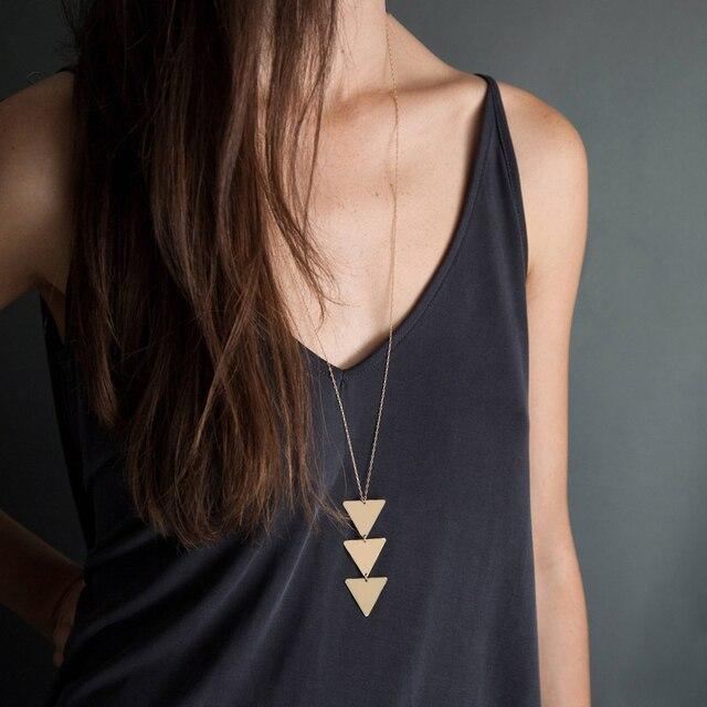 2020  NEW pendant Necklace geometric Long Chain Women choker Choker Bijoux Collier