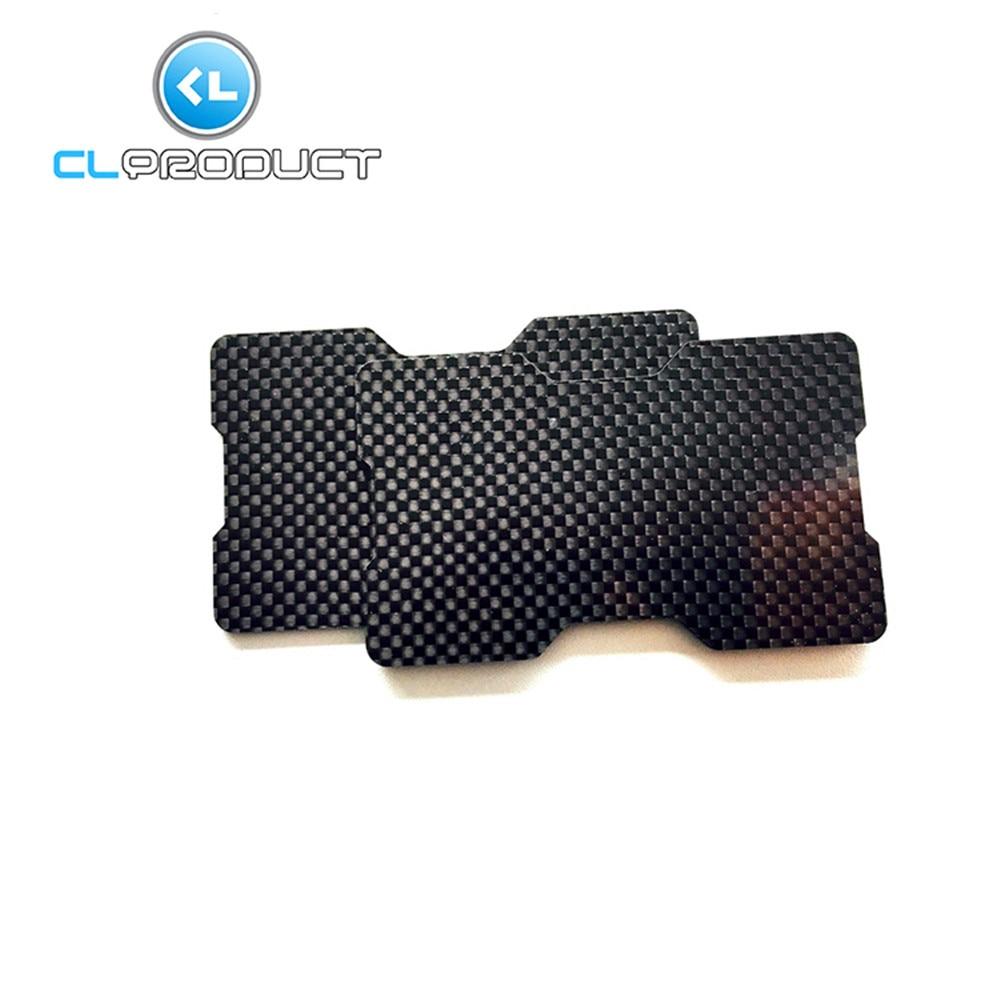 100% Real Carbon Fiber Glossy Money <font><b>Clip</b></font> Credit Card Business <font><b>Clip</b></font> Double Concave Plate