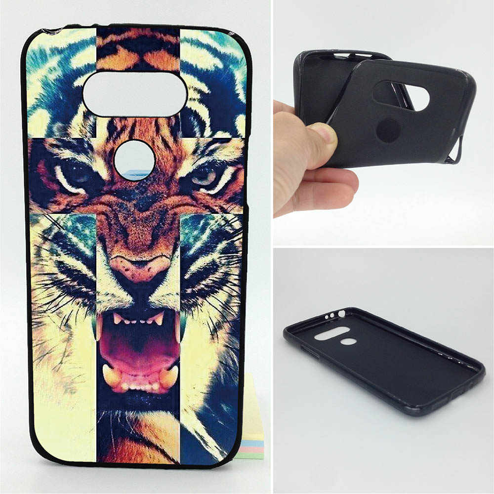 Tigre casos de teléfono suave TPU para LG G5 G6 K7 K8 K10 Leon H340 V20 Nexus 5X X Screen 2017 K10 2017 K8 2017 K4 K3