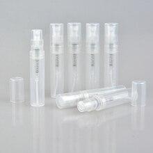 100 قطعة/الوحدة 2 مللي 3 مللي 4 مللي 5 مللي حاويات بلاستيكية مستديرة صغيرة زجاجات العطور البخاخة فارغة مستحضرات التجميل الحاويات للعينة