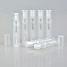 100pcs/lot 2ml 3ml 4ml 5ml Small Round Plastic Containers Perfume Bottles Atomizer Empty Cosmetic Containers For Sample