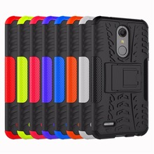 Case For LG K10 2018 Cover Hybrid ShockProof Armor TPU + PC Phone Stand Case For LG LV5 K10 2017 Phone Cases for lg k10 2017 american unicorn pattern soft tpu phone case