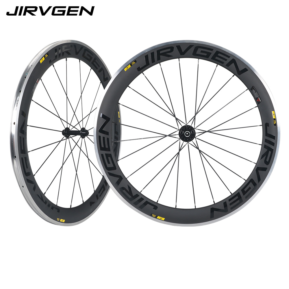 700C 23mm width 60mm depth clincher bike wheelset R13 hub aluminum breaking surface road bicycle carbon alloy wheels achieve ielts 2 english for international education cd rom