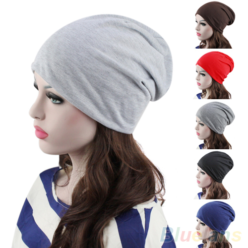 Hot Fashion Women's Men's Winter Slouch Crochet Knit Hip-Hop Beanie Hat Cap 22B3 hot winter beanie knit crochet ski hat plicate baggy oversized slouch unisex cap