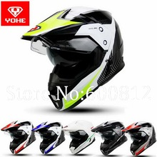 2016 New YOHE double lenses cross country motorcycle helmet winter off road Motorbike helmets Made of