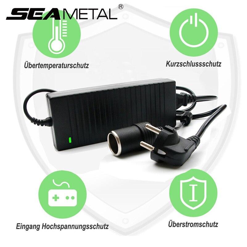 12 v carro ue plug adaptador de energia 120 w europa soquete transformador universal para aspirador ar compressor bomba auto acessórios