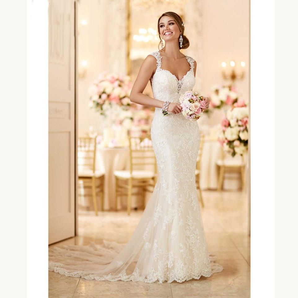 Simple Plus Size Wedding Dresses: Vestidos De Novia Backless Lace Wedding Dress 2019 Simple