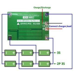 Image 3 - 3 S 40A Caricatore di Batteria Al Litio Protezione Bordo PCB BMS Li Ion Per Trapano Motore 11.1 V 12.6 V Lipo Cellulare modulo con Equilibrio
