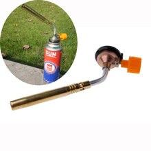 цена JD-2 welding torch metal nozzle butane gas welding torch outdoor camping BBQ welding equipment flame gun онлайн в 2017 году