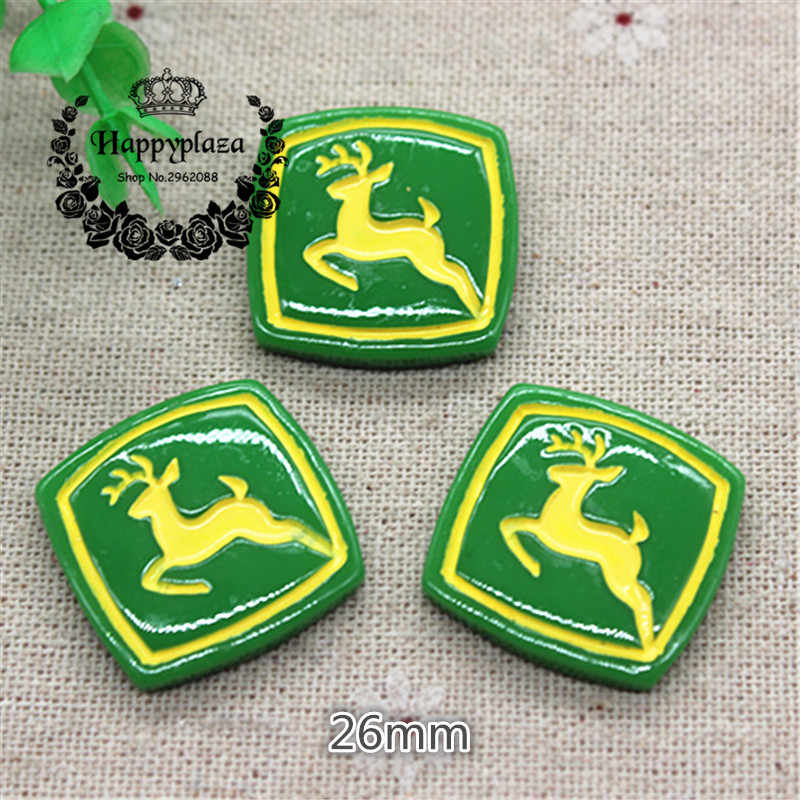 10 pcs Resin Selamat St patrick Day Deer Pipih Cabochon Miniatur Art Pasokan Dekorasi Charm Craft, 26mm