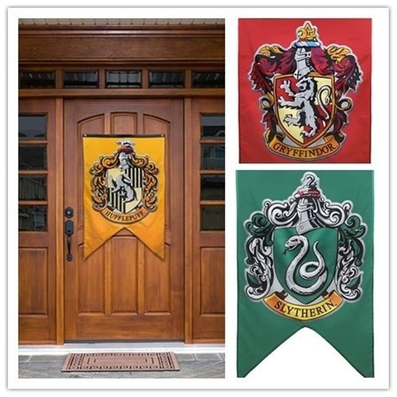 Harry Potter Banners Gryffindor Slytherin Hufflerpuff Ravenclaw La Universidad bandera fiesta suministros casa decoración niños niñas niños regalo