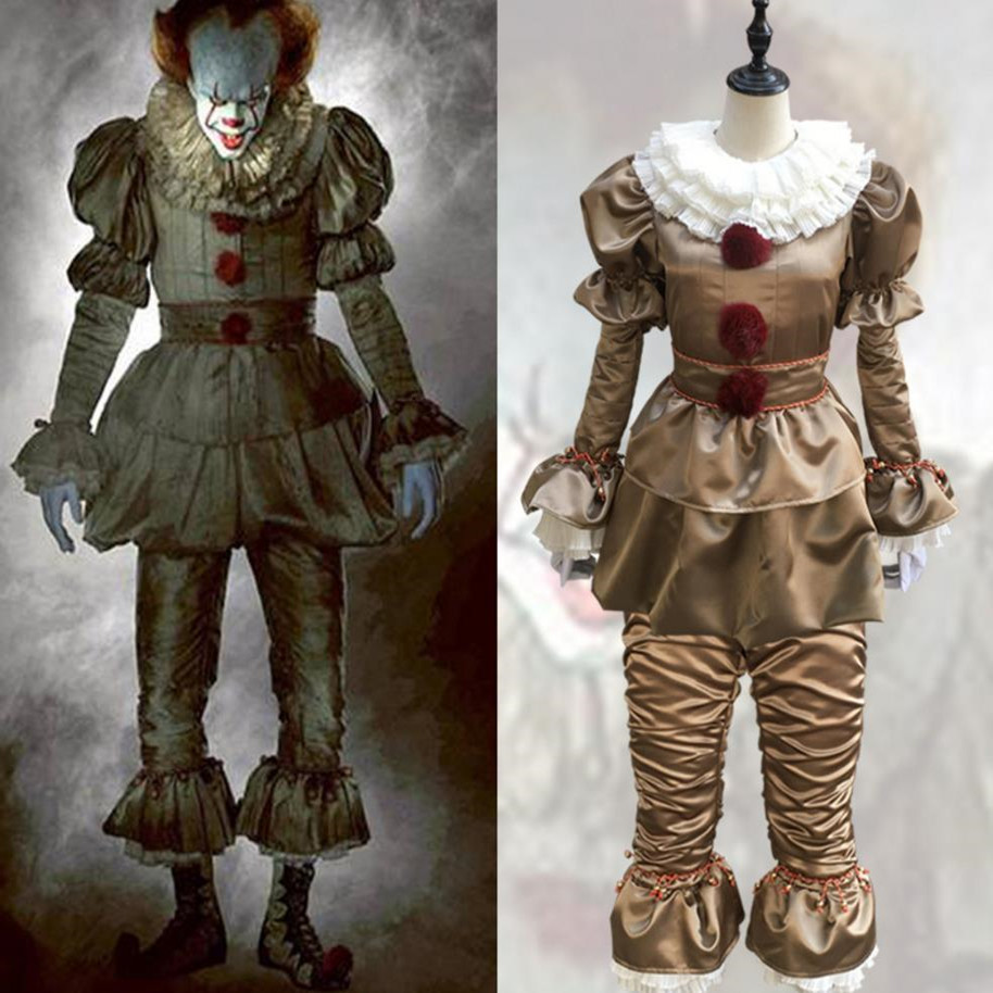 Stephen King's It Pennywise Cosplay Costume Adult Unisex Clown Halloween Costumes