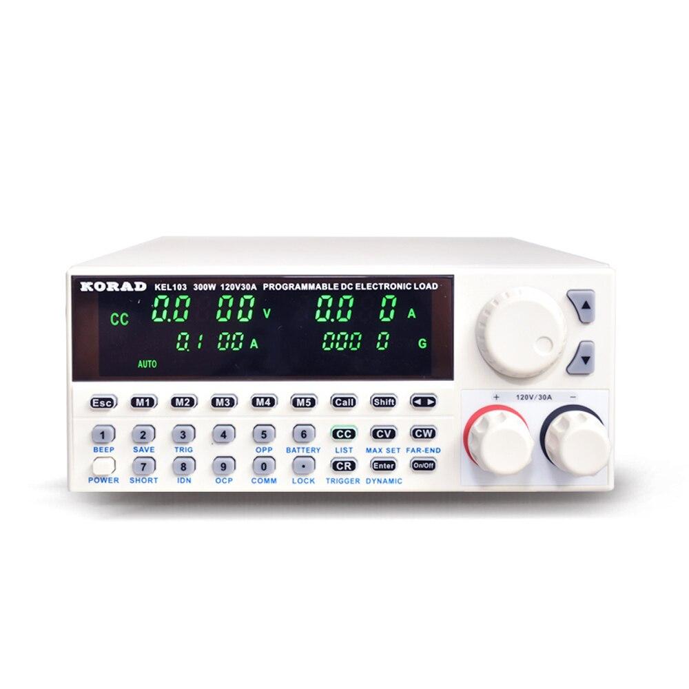 KORAD-KEL103 carga eletrônica profissional do verificador da bateria das cargas da c.c. do controle de digitas da programação elétrica 300 w 120 v 30a