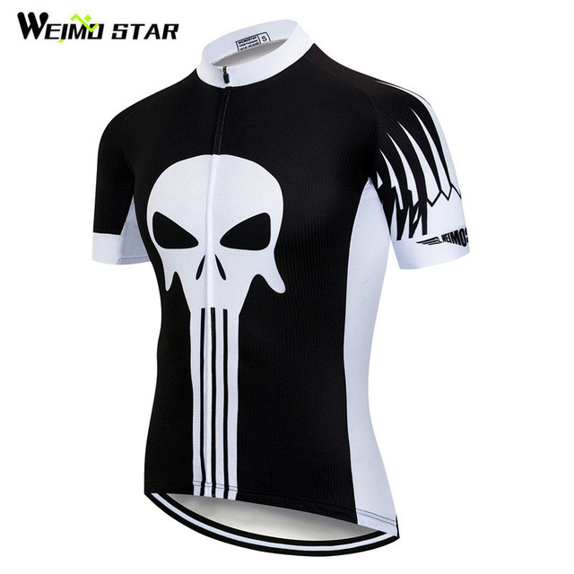 00e583084 Weimostar Punisher Cycling Jersey Shirt Men Summer Short Sleeve Team Bicycle  Cycling Clothing Quick Dry Downhill MTB Bike Jersey