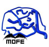 MOFE 8 stücke Blau silikon wasser/kühlmittel/kühler schlauch kit Für Saab 9-5 1999-2001