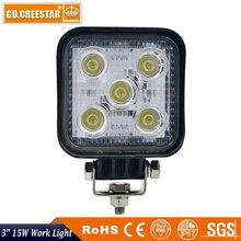 15 W 3 polegadas Praça led trabalho light 3×3 5 leds 12 V 24 V Mini Led luzes trator usado para Mineração Truck Car ATV Empilhadeira barco lâmpadas x1pc