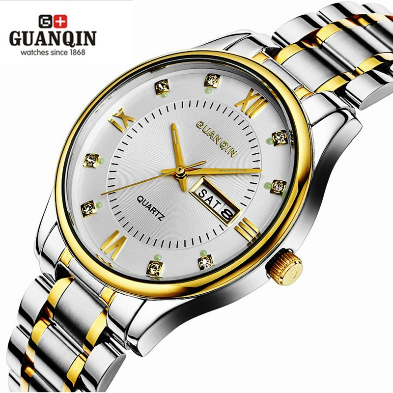 GUANQIN Watch Original Clock Waterproof Luxury Quartz Male Luminous Men