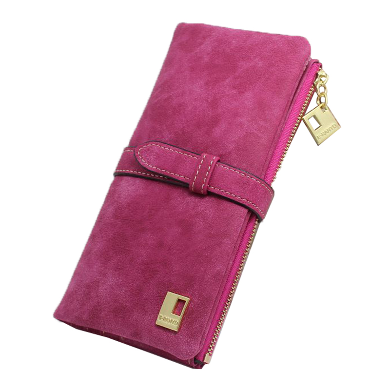 Women Wallets fashion trends pumping frosted multi-card pu leather two fold wallet lady Ms. Long purse card