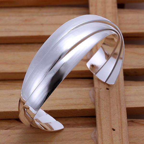 ᗔB044 925 envío gratis brazalete pulsera de plata 648676c5c38
