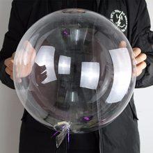 20 polegada claro pvc balão grande elasticidade decoração do casamento balões inflável hélio bola de ar festa de aniversário balões crianças brinquedo