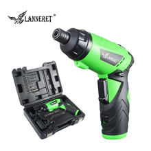 LANNERET 3.6V Lithium-Ion Cordless Electric Screwdriver Household Multifunction Drill/Driver Power Gun Tools LED Light BMC