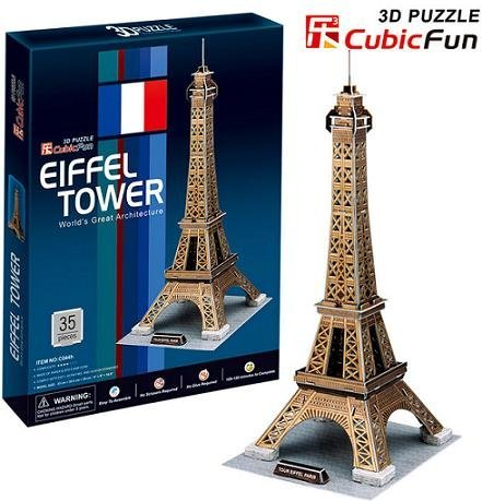 Freeshipping! EIFFEL TOWER,CubicFun 3D Jigsaw Puzzle,3D paper model,DIY puzzle,Best Educational toys for Kids