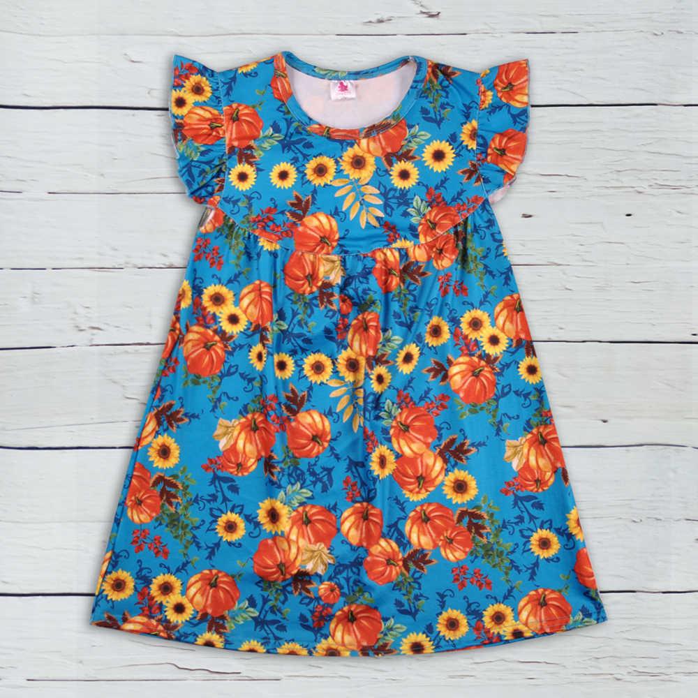 277b3ceb17b9c01 На День Благодарения оптовая продажа высокое качество Эксклюзивное платье  модные флаттера рукава платье для девочек Летняя
