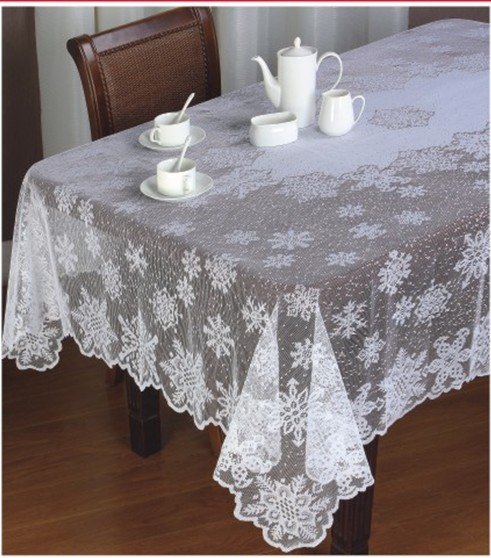 Free Shipping Floral Snowflower Christmas Lace Table Cloth
