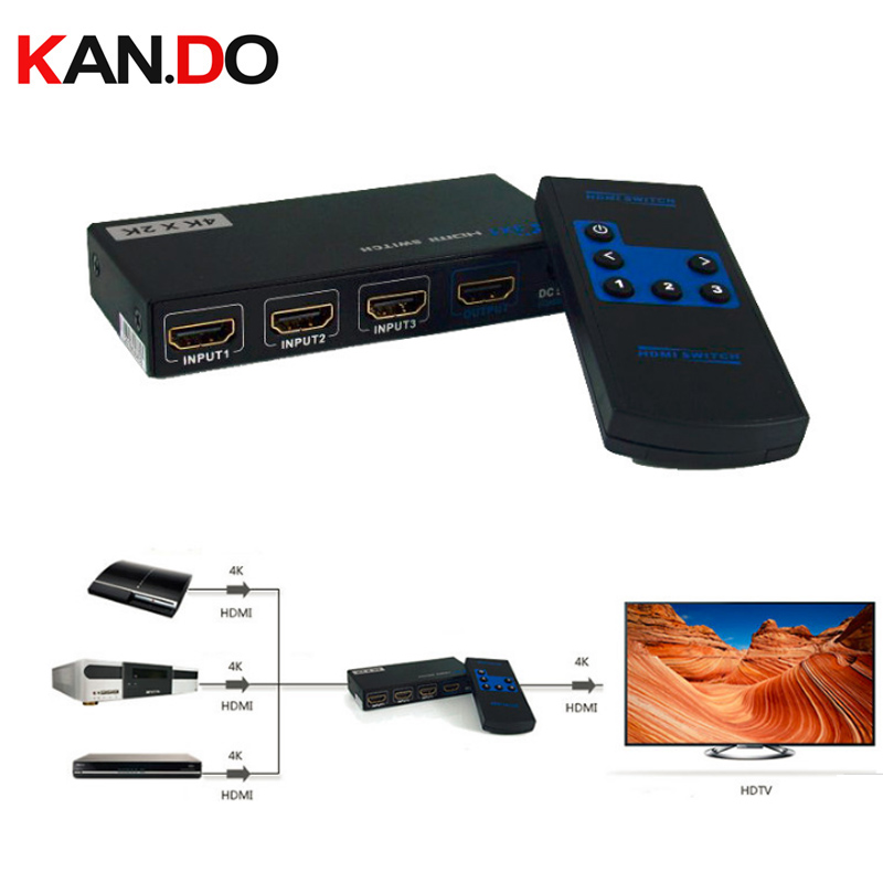 331A 4K X 2K 3x1 HDMI Switch With Remote Control HDMI Swicher HDMI Switch