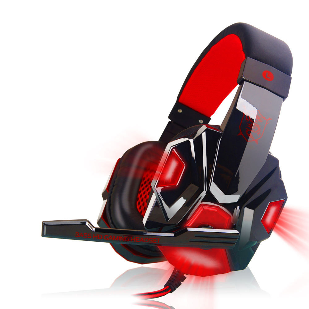 Brand Glowing Headphones Surround Stereo Gaming Headset Headphone USB 3.5mm 2.2m LED with Mic for PC Tablets Smartphone #ET1
