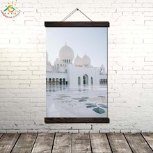 Grand Mosque In Abu Dhabi Wall Art Prints Canvas Painting Picture And Vintag Poster Home Decor for Bedroom