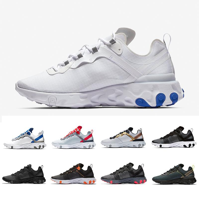 Volt Taped Seams React Element 55 Undercover X Upcoming running shoes Solar University Red designer sports men women Sneakers