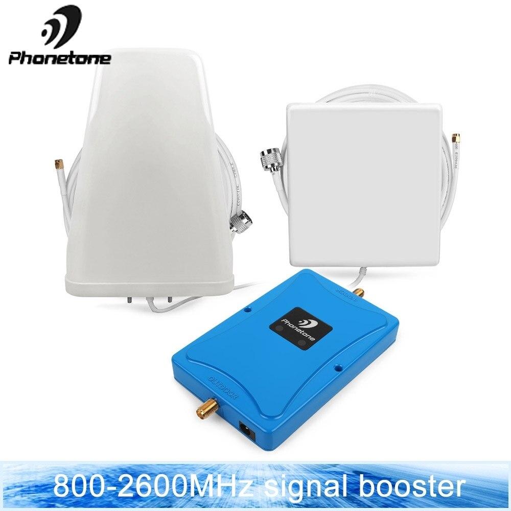 Cellulaire Signal Booster 4G Amplificateur LTE Bande 20 & 7 800/2600 MHz 70dB téléphone portable Mini Taille Répéteur avec Antennes Ensemble pour L'europe