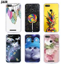 "J&R Floral Phone Case For Lenovo K320T Transparent Clear cover K320 T 5.7"" Silicone Soft TPU Protective Cases Drawing"