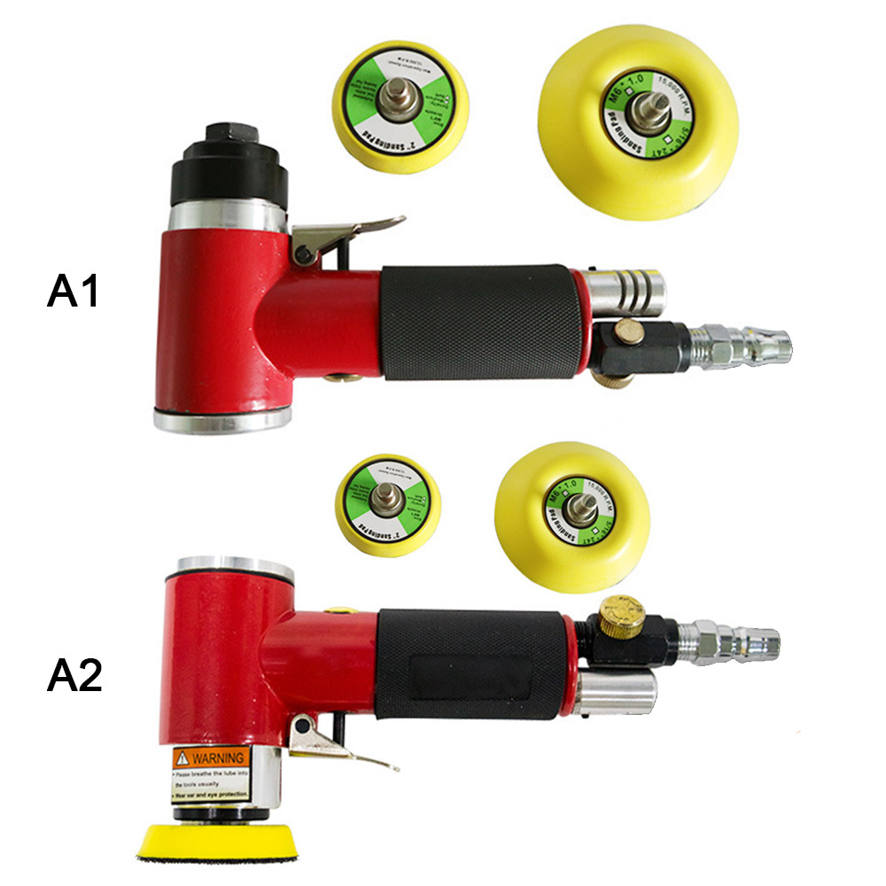 Mini Air Sander Kit Pad Straight Eccentric Orbital Dual Action Pneumatic Polisher Polishing Buffing Tools For Auto Body Work|Polishers| |  - title=