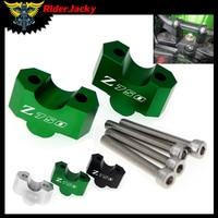 laser Logo Z750 Motorcycle HandleBar Riser Handle Bar Mount Clamp Adapter For Kawasaki Z 750 Z750 2007 2012 2008 2009 2010 2011