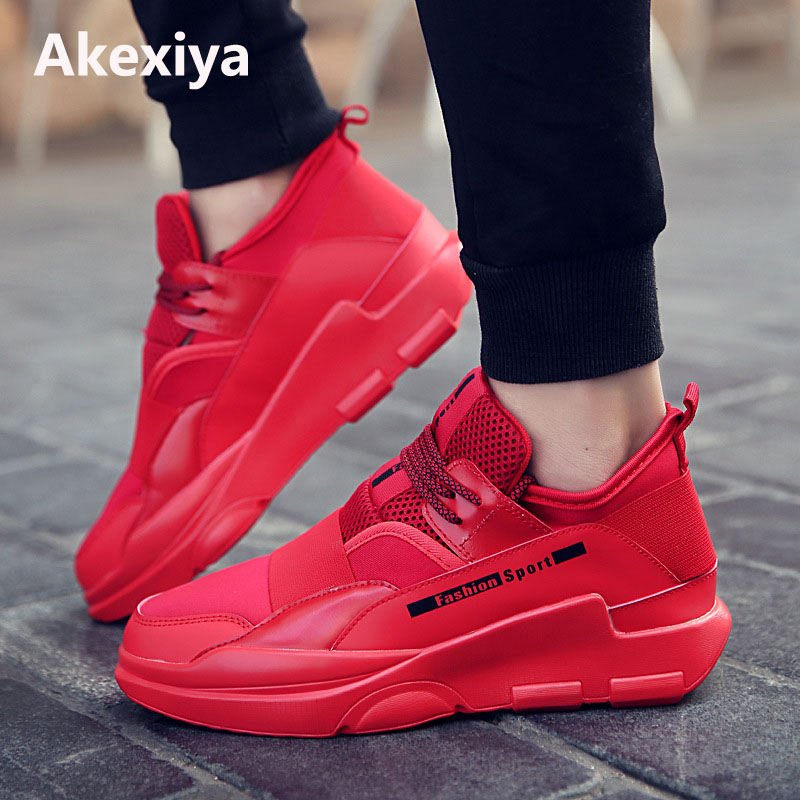 New Arrival Athletic Trainers Running Shoes Mens Sneakers Black Red Men Gym Sport Shoes Breathable Walking Jogging Sneakers Men