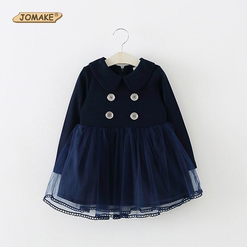 Fashion baby dress long sleeve pirncess girls clothes