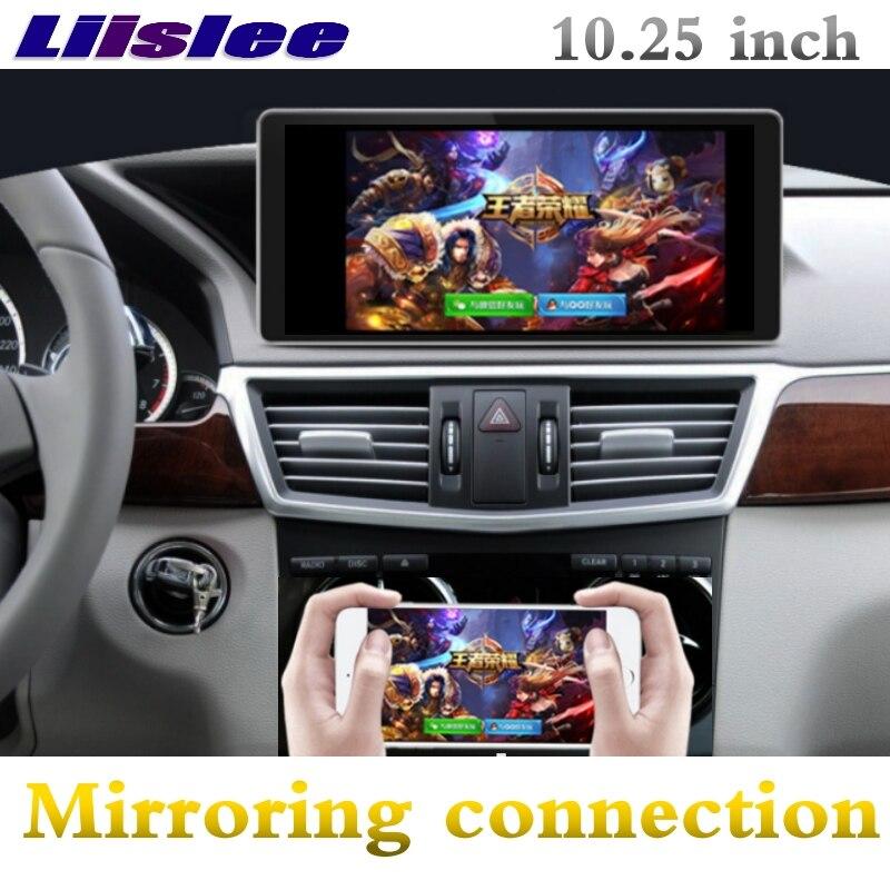 Liislee автомобильный мультимедийный плеер NAVI CarPlay адаптер для Mercedes Benz MB E класса W212 E200 2009 ~ 2016 радио gps навигации