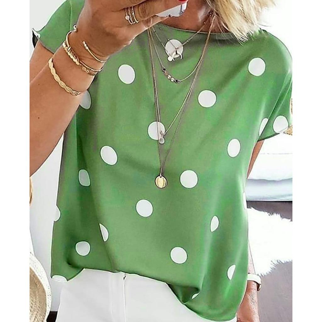 Tunic Women Blouse Polka Dot