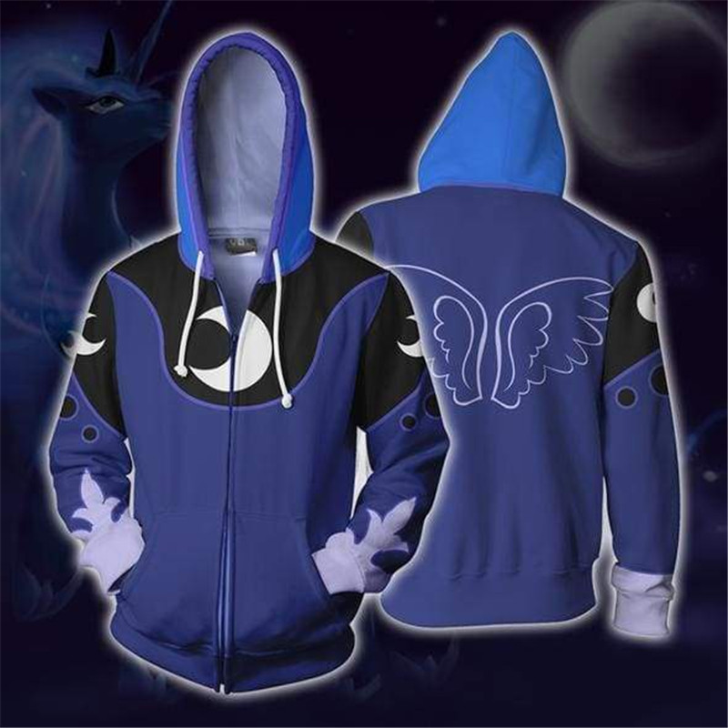 CostumeBuy Cartoon Anime Princess Luna Cosplay Costume Top Jacket Sweatshirt Adult Gilrs Women Halloween Hoodies L920