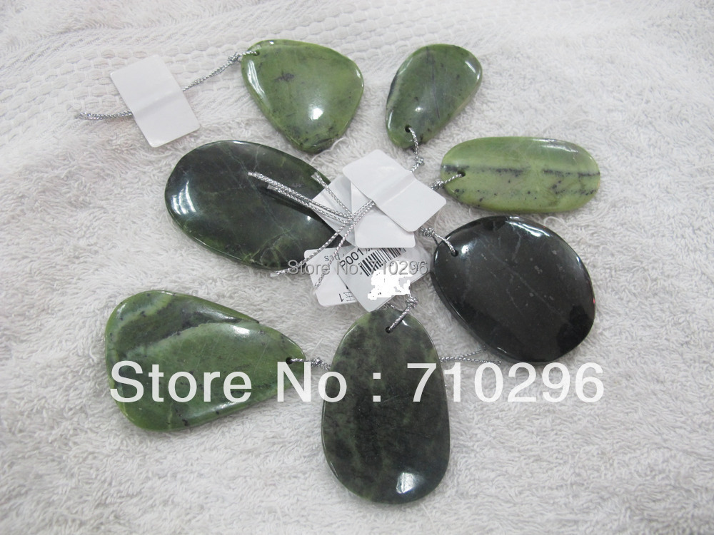 10 pcs lot Natural Canada Jad e irregular size 30 50mm Natural everlast Jewelry Pendants